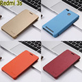 Fashion official Simple PU Leather Flip skin Cover case For Xiaomi Hongmi 3s redmi 3s 3 s red rice 3s 3 pro with pen