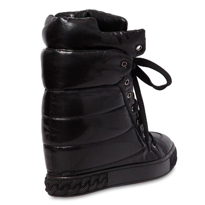 forme Lace Hauteur Cheville De Black Femmes D'hiver En Bottes Up Martin Eunice Plate Date 8 Cm A Chaussons La 2018 Choo Neige Cuir Augmentation d4qUtq