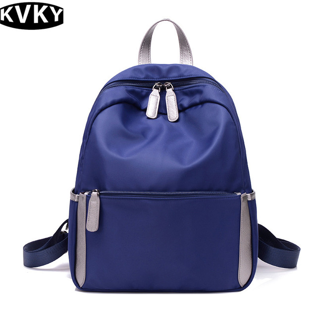 14072dd95787 KVKY 2017 Women New lightweight nylon canvas bags leisure bags all-match Travel  Backpack preppy style backpack