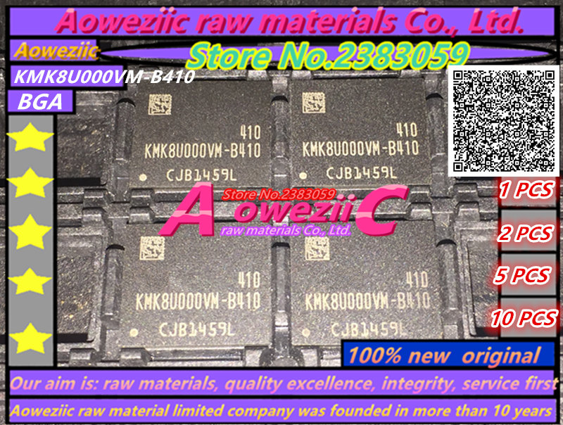 Aoweziic 100% new original KMK8U000VM-B410 BGA Mémoire puce KMK8U000VM B410