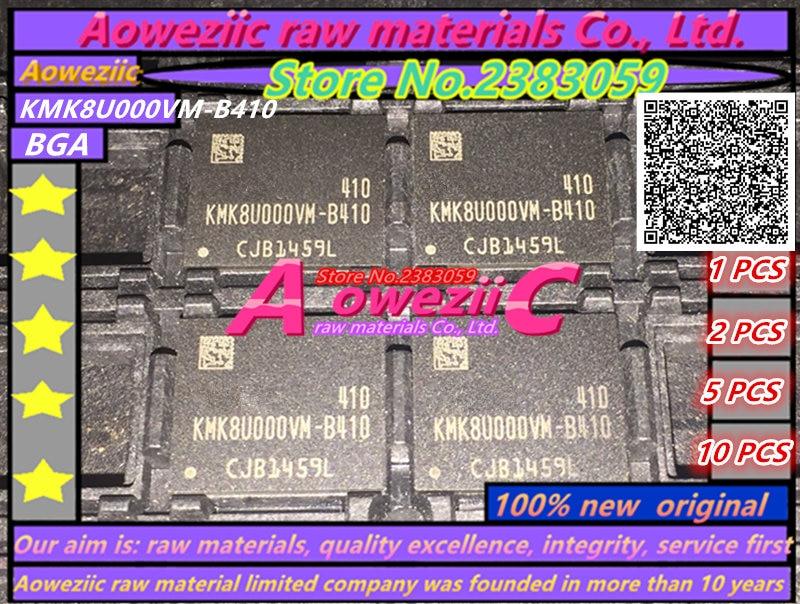 Aoweziic 100% new original   KMK8U000VM-B410  BGA   Memory chip  KMK8U000VM B410 aoweziic 100% new original mosfet hy4008 hy4008w 80v 200a to 3p inverter ultra chip