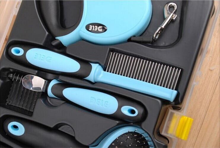 Ножницы и расческа набор инструментов для ухода за домашними животными для собак кошек щенков B0730A продукт - 6