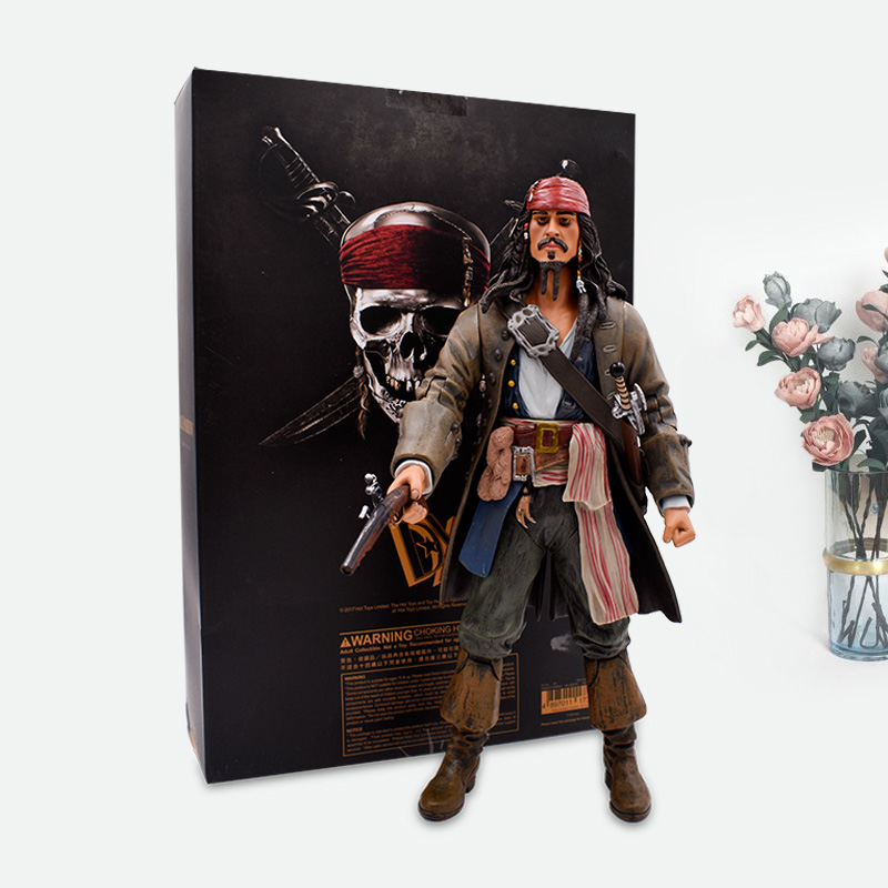 1230cm Pirates of the Caribbean Jack Sparrow Action Figures Toy PVC Movie&TV Models Doll Gift For Children Free Shipping