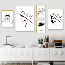 Red Lips Wall Picture Nordic Poster Minimalist Canvas Posters For Living Room Painting Abstract And Prints Unframed