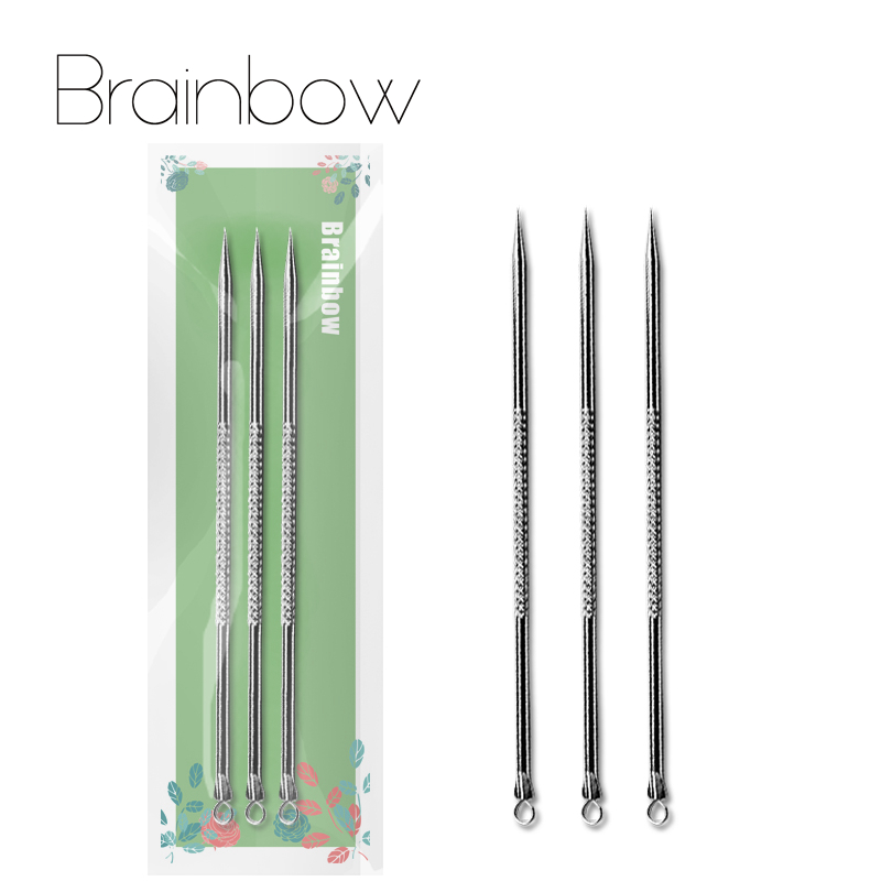 Brainbow 1pc Facial Cleaner Brush Soft Silicone Blackhead Comedone Acne Pimple Extractor Tools Finger Brushes for Face Skin Care 16