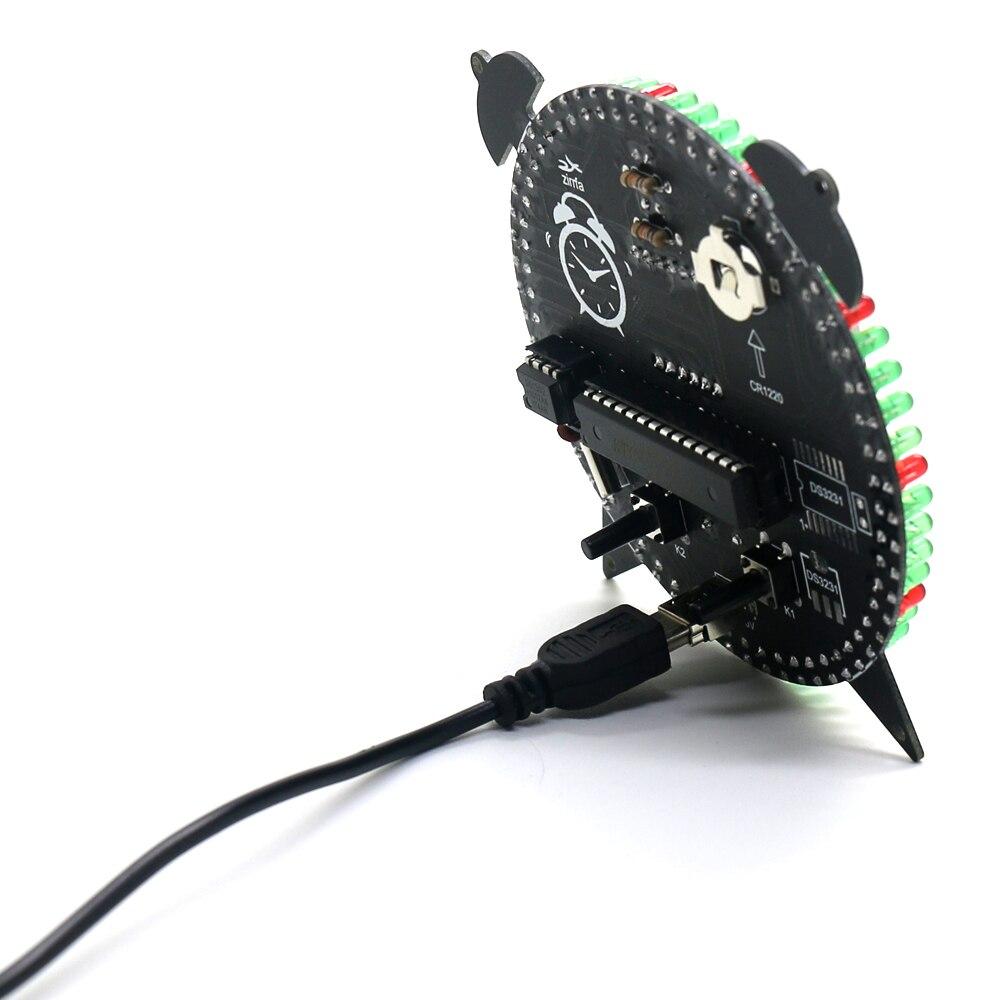 alarm clock zirrfa Rotating DS1302 Digital LED Display Module Alarm Electronic Digital Clock Temperature DIY Kit Learning Board 5V New (4)