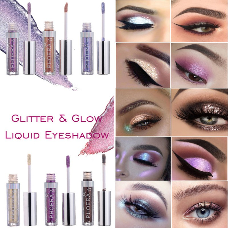 Glitter Eyeshadow Waterproof Liquid Shimmer Long Lasting Metallic Pigments Shine Eye Shadow Stickers