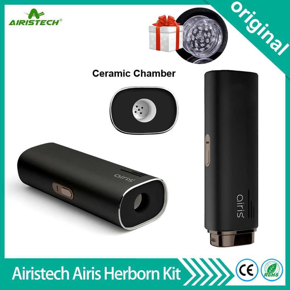 Newest Original Airistech Airis Herborn Kit 2200mAh Battery Dry Herb Vaporizer Ceramic Heating Herbal Wax Vape