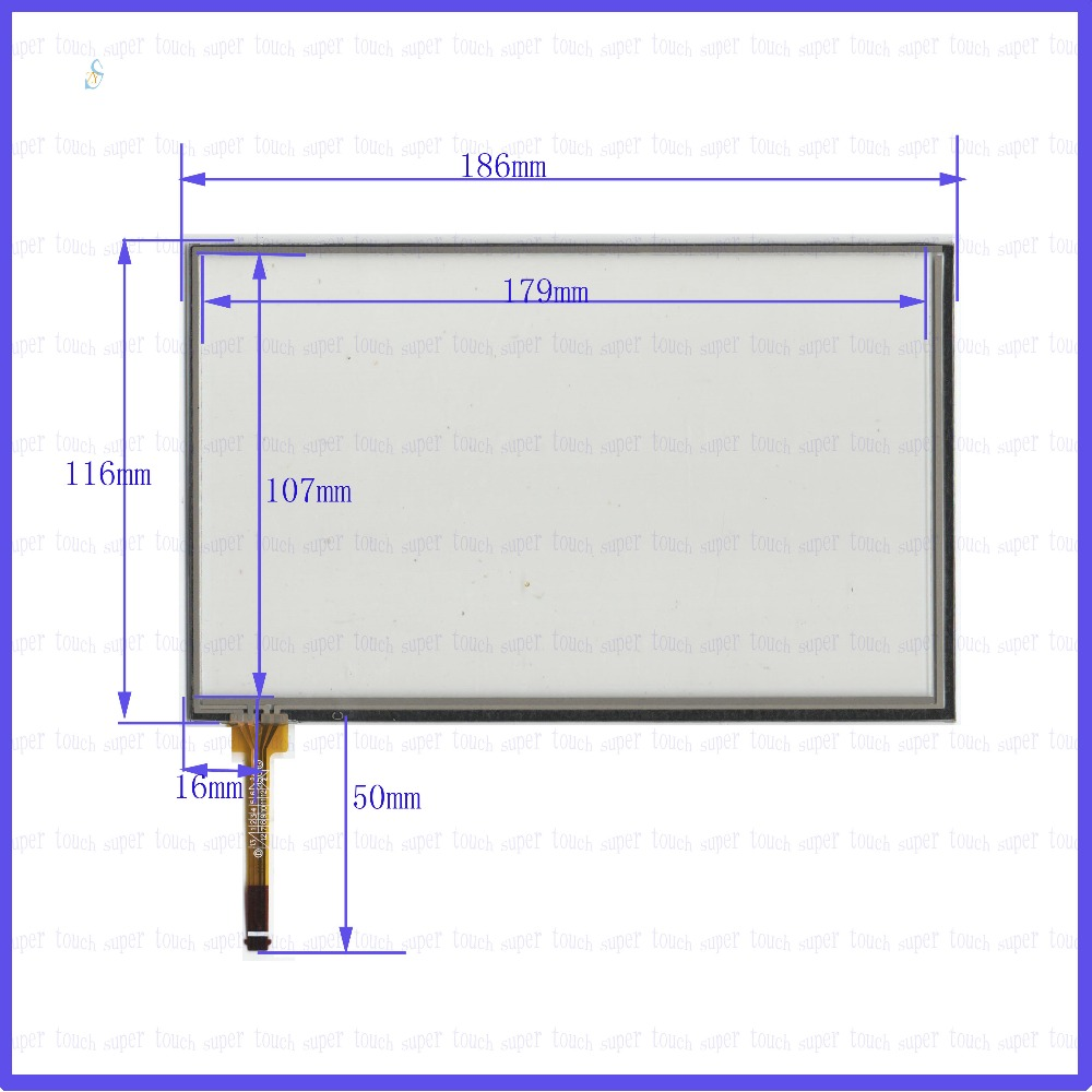 ZhiYuSun KDT-6451 NEW  7.8 inch  4 wire    for gps glass   touch panel width 116mm length186mm 186*116 Touchsensor  compatible beijer electronics ab exter t100 using front glass panel kdt 544 new goods
