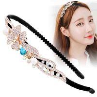Princess Peal Rhinestone Hairbands OL Flower Luxury Crystal Headbands Bridal Wedding Shiny Hair Accessory Elegant Bow