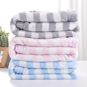 Image 3 - High Quality Baby Blanket Infant Bebe Thicken Flannel Swaddle Envelope Stroller Cartoon Blanket Newborn Baby Bedding Blankets