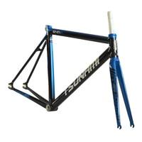 TSUNAMI Aluminium Broken wind Fixed Gear Frameset Fork 700c x 52cm 54cm Fixie frame Track High Quality Bicycle Parts SNM300