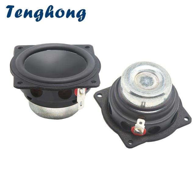 Tenghong 2pcs 2 Inch Mini Audio Speakers 4Ohm 20W Full Range Bluetooth Speaker Treble Mediant Bass Loudspeaker For Home Theater