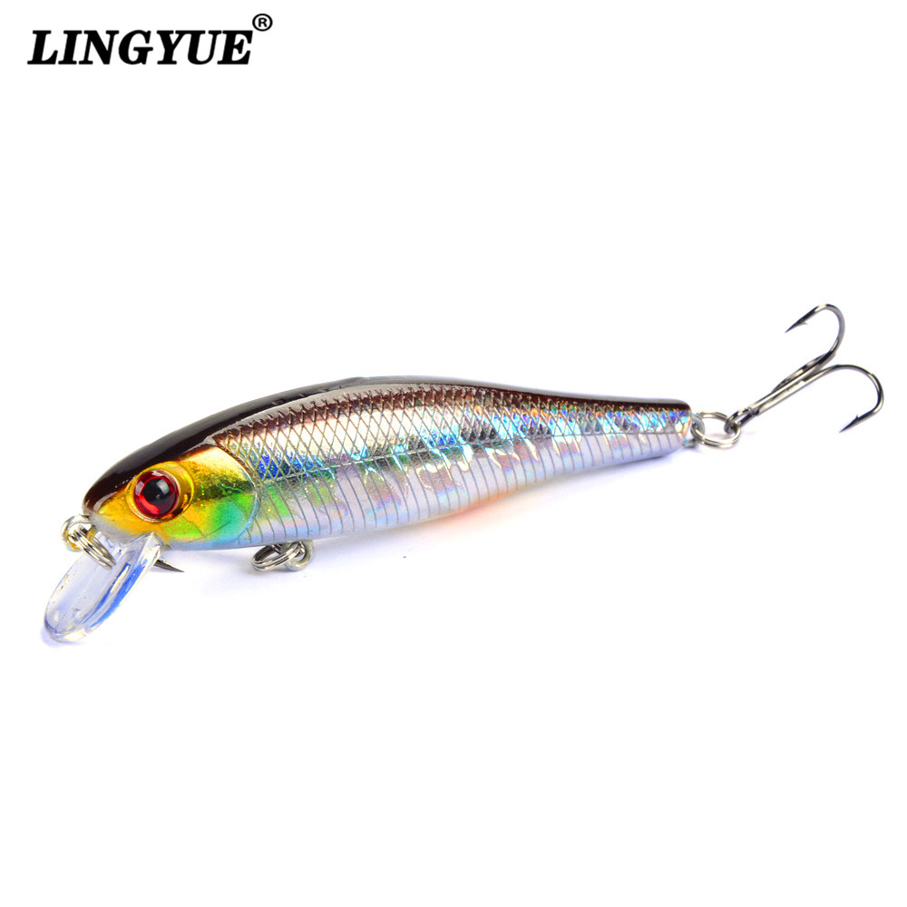 2018 New Arrival 8.5cm/9.2g Hard Minnow Baits Lures 3D Eyes Fishing Wobblers 6# Hooks Crankbaits Crap Tackle pesca 2018 new arrival 8 5cm 9 2g hard minnow baits lures 3d eyes fishing wobblers 6 hooks crankbaits crap tackle pesca