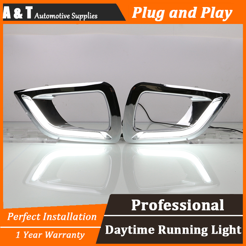 car styling For Nissan Navara LED DRL For Navara led fog lamps daytime running light High brightness guide LED DRL for nissan primera estate wp12 2002 2015 car styling led light emitting diodes drl fog lamps