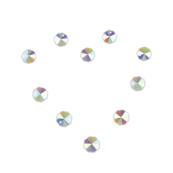 2000PCS/Lot , AB Color, 14mm Crystal Octagon Beads In 1 Hole For Wedding Strands & Chandelier Beadsa