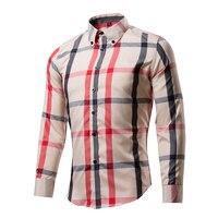 New Style Men S Classic Breathable Plaid Shirt Long Sleeve Dress Shirt Men Business Formal Shirts