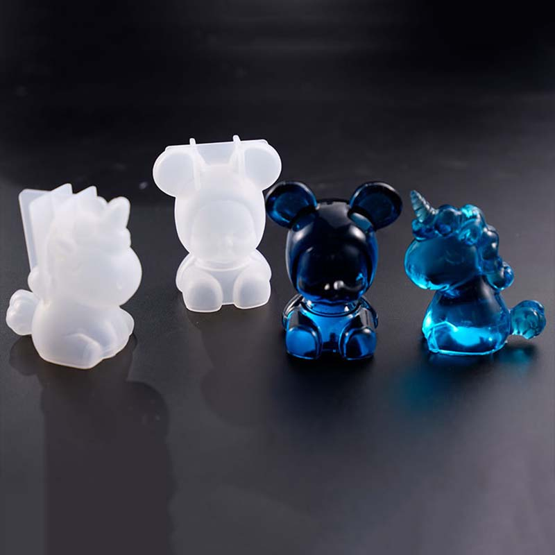 Creative Unicorn Baby Shape Silicone Mold DIY Handcraft Jewelry Mould Practical Ornaments Soap Candle Making Mould Wax Molds