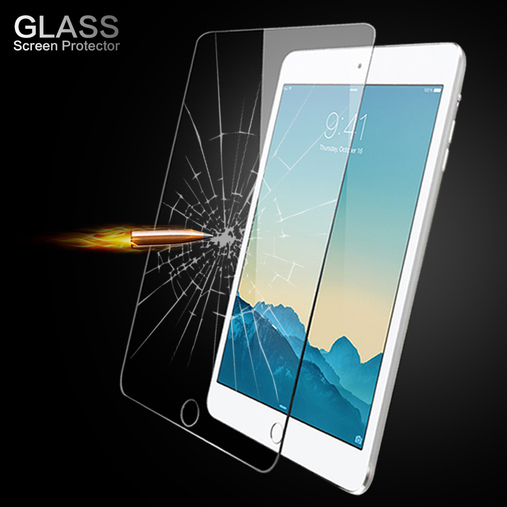for iPad 9.7 New 2017, Air 1 2, Pro 9.7 inch High Quality 9H Tempered Glass Screen Protector Protective Guard Film high quality pet protective screen protector for ipad air white 5pcs