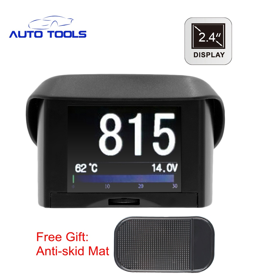 2.4 inch Car OBD Smart Digital meter Alarm Fault code Water temperature gauge digital voltage speed meter new update for a202 2016 update gv08 smart watch 15 inch 2mp