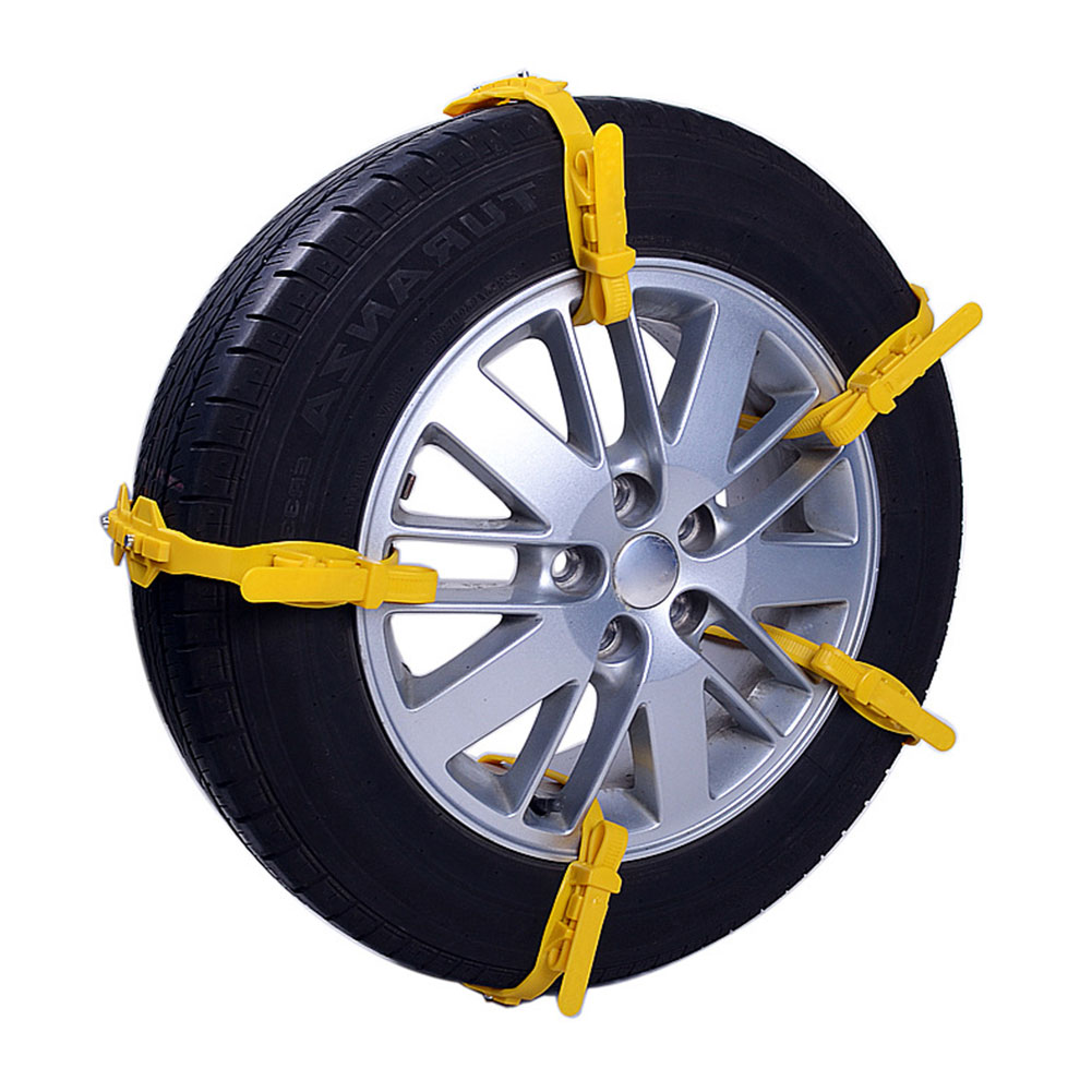 Snow Tire Belt Snow Chain Yellow/Black Anti-Skid Chains Roadway Safety Universal TPU Thickened Emergency
