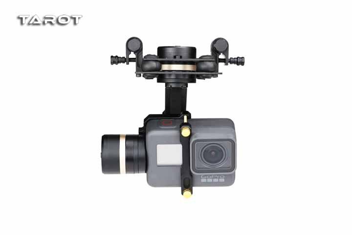 Haute Qualité Tarot TL3T05 pour Gopro 3DIV Métal à Cardan Sans Balai À 3 Essieux PTZ pour Gopro Hero 5 6 pour système FPV Caméra de Sport D'action