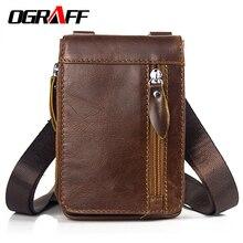 Купить с кэшбэком OGRAFF Genuine Leather Waist Packs Pack Belt Bag Fanny Pack Bags Travel Waist Pack Male Waist men's Bag Leather Pouch