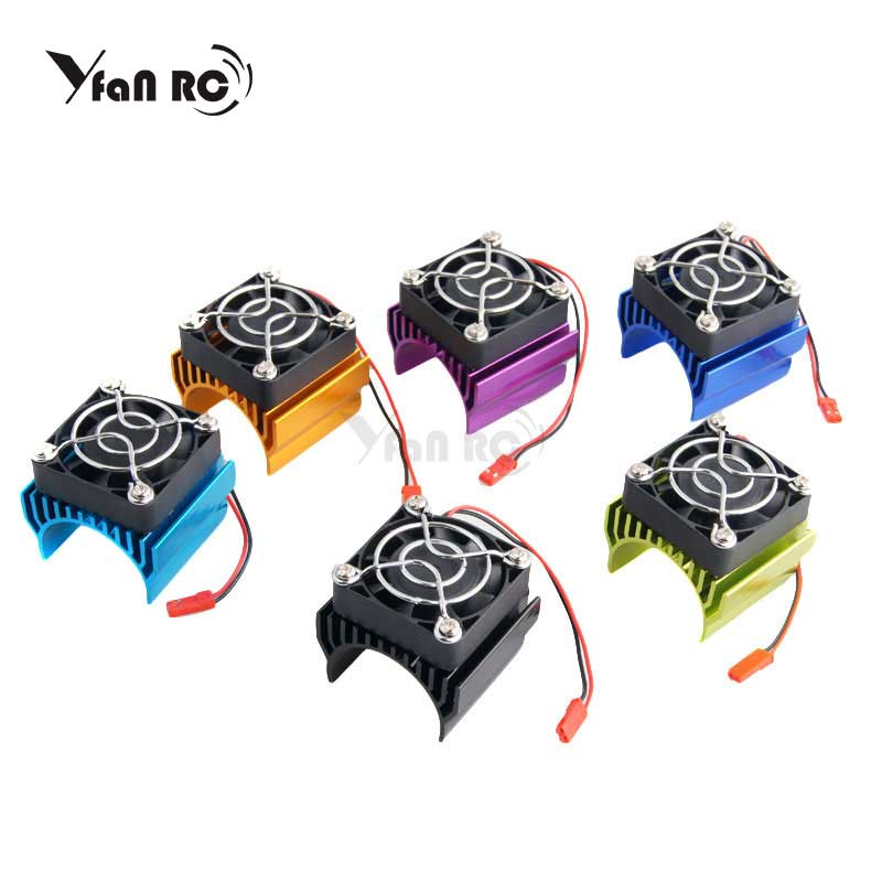 Free Shipping RC Car 1:10 94123 Tram <font><b>540</b></font> 550 3650 <font><b>Motor</b></font> With <font><b>Fans</b></font> Radiator Heat Sink For 3650 3660 3670 3674 <font><b>540</b></font> 550 Size <font><b>Motor</b></font> image