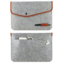 2016 New Real Genuine Felt Sleeve LaptopCover Bag for MacBook Air Pro Retina 1315 Free shipping