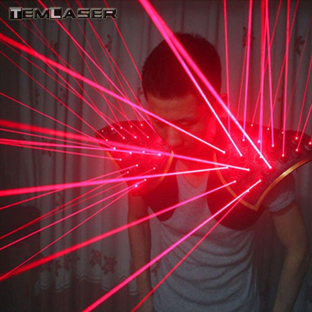 Livraison gratuite Rouge Laser Costume Gilet LED Lumineux Gilet Gants Laser Lunettes Pour Spectacle Laser