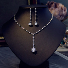 New design simple 3A zircon drop shape ladies high quality party / wedding jewelry