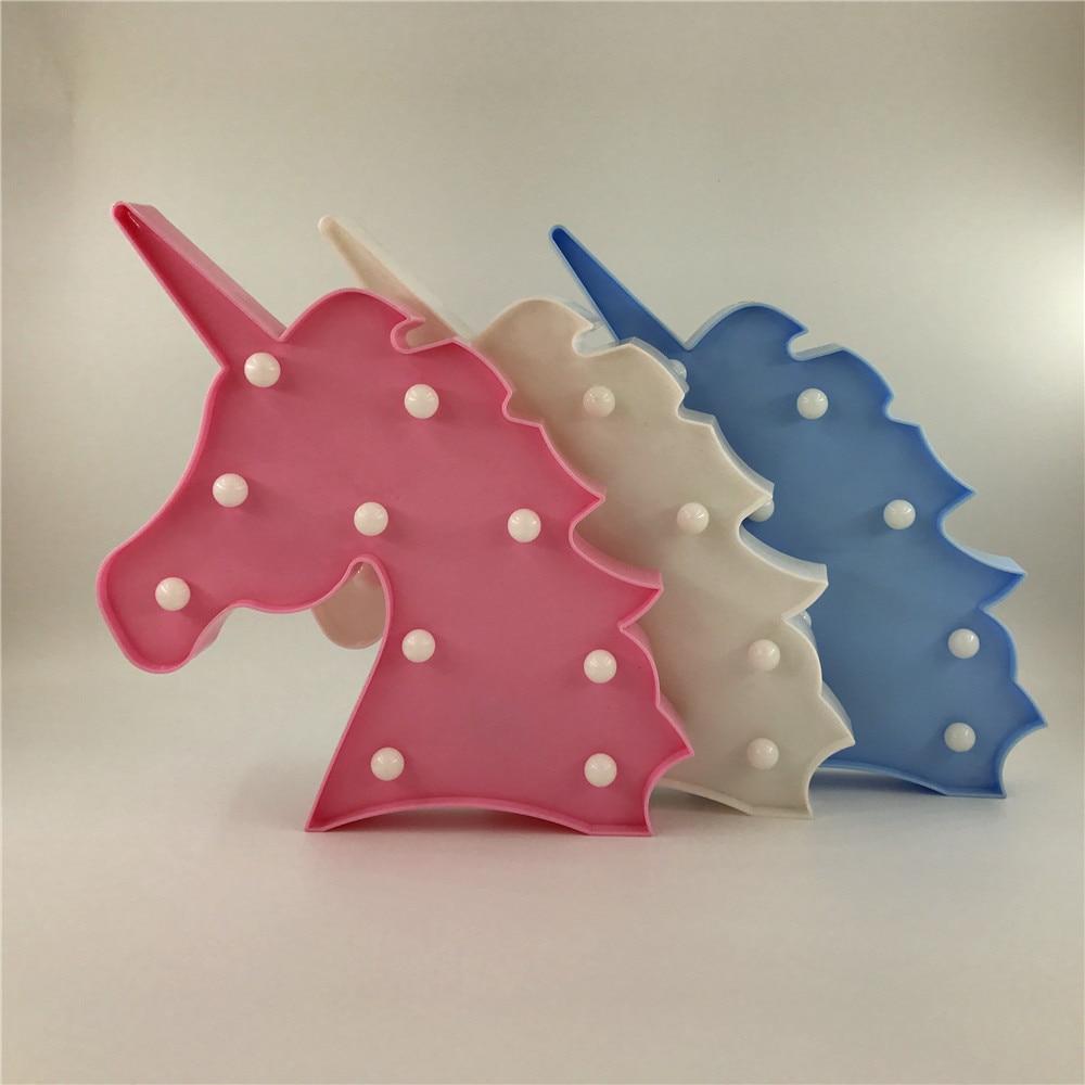 Novelty 3D LED Cute Unicorn Animal Night Light Warm White Shine - Night Lights - Photo 2