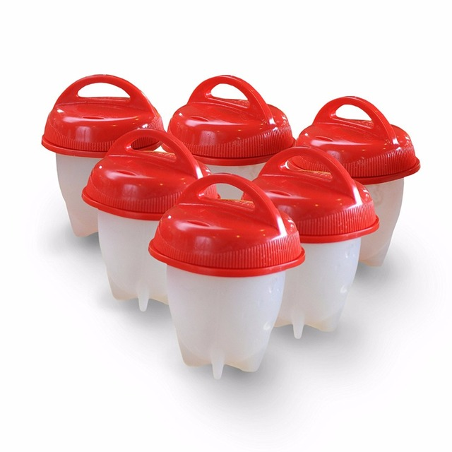 6pcs/set Drop shipping Egglettes Maker Egg Cooker – Hard Boiled Eggs without the Shell Eggies As Seen on TV Egg Cooker