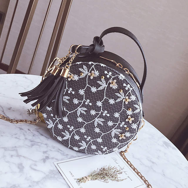 172d72cb5f3 placeholder New Women Fashion Top- Handle Bags for Women Lace Floral  Designer Flap Sac a main