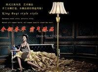 Роскошные Медь торшер Фортуни Moda торшер современный Стандартный лампа Royal Floor Стандартный свет