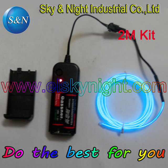 Hight brightness EL Wire Tube Rope Battery Powered Flexible Neon ...