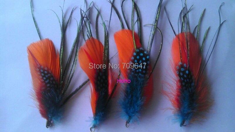Pendientes de plumas de pato natural para niños en 25 Colores 925 ganchos de la astilla hecho a mano