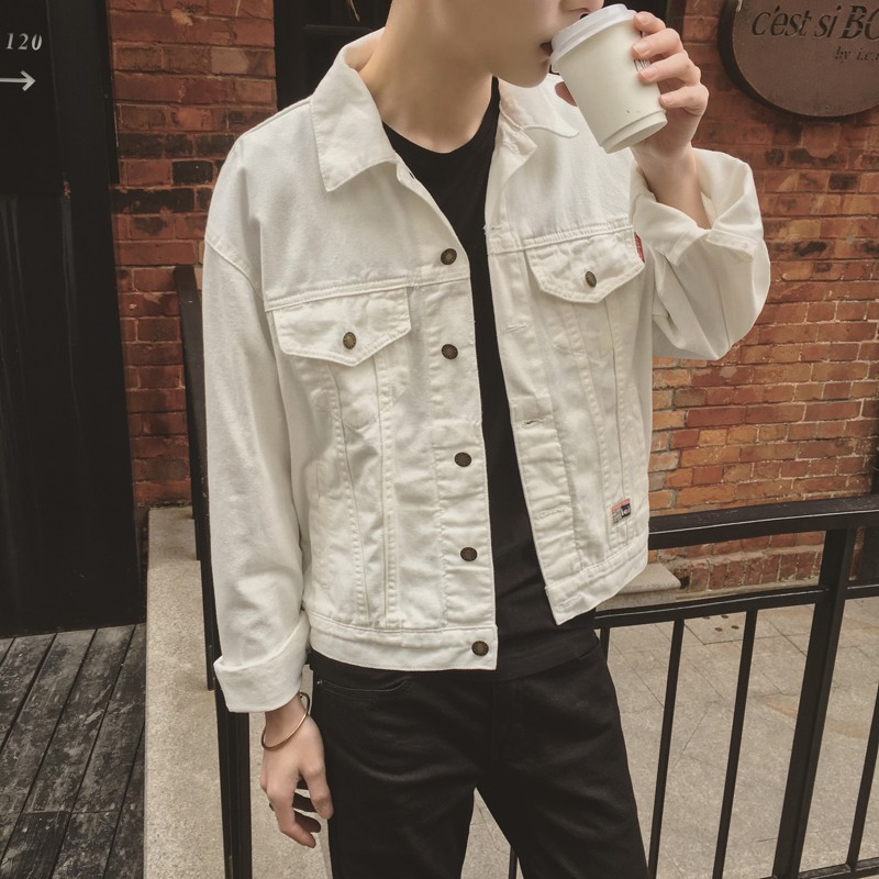 Aliexpress.com : Buy White Denim Jacket Men 2017 New Korean ...