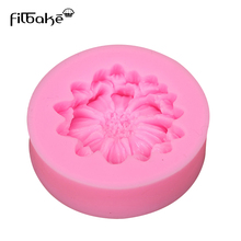 FILBAKE  DIY Chrysanthemum Flower Fondant Silicone Mold Candy Mould Wedding Party Cake Decorating Tools Baking Accessories