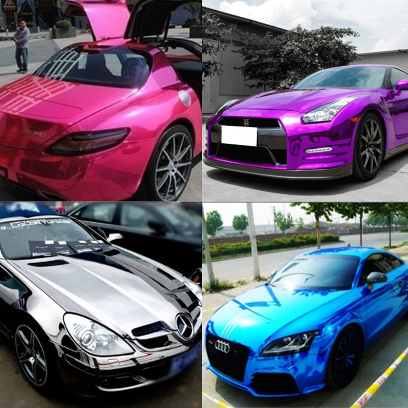 Online Shop Mirror Chrome Smooth Electroless Plating Vinyl Sticker - Anime car body sticker