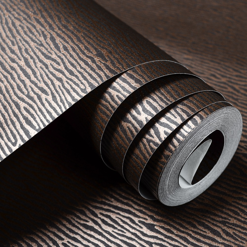 Abstract Modern Horizontal Striped Geometric Wallpaper Luxury Zebra Line Textured Ripple Wall Paper,White,Dark Brown,Beige,Green