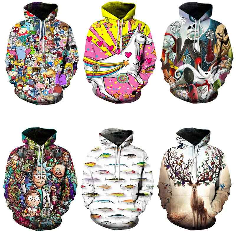 Hot koop off wit hoodies harajuku Fashion Collection 2019 freeshipping mannen en vrouwen 3D Print Hooded Sweater streetwear