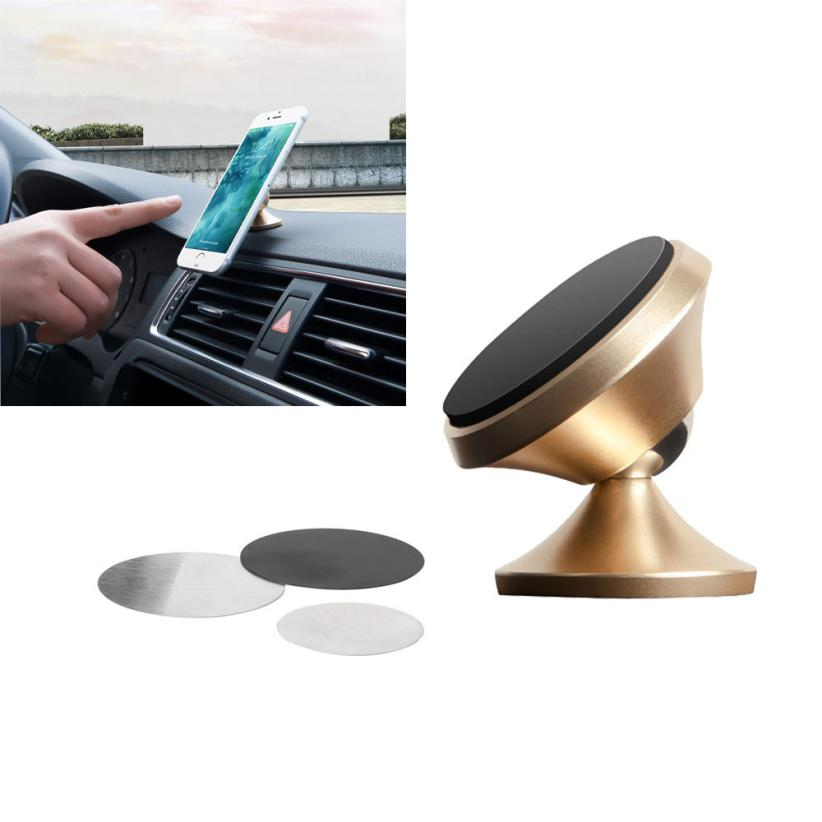 2017 New Universal 360 Rotating Car Holder Magnetic Mount Stand For for iphone 6/6s/7 for Samsung Galaxy S7/S8 scrap resistant