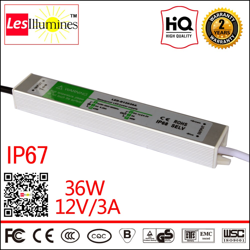 Waterproof AC DC 110V 220V 12V LED Driver Transformer IP67 CE ROHS Approval 12V 3A 36W Switching Power Supply Outdoor Use new 12v 1a 12w ac dc transformer driver for mr16 mr11 gu5 3 led bulbs strips promotion