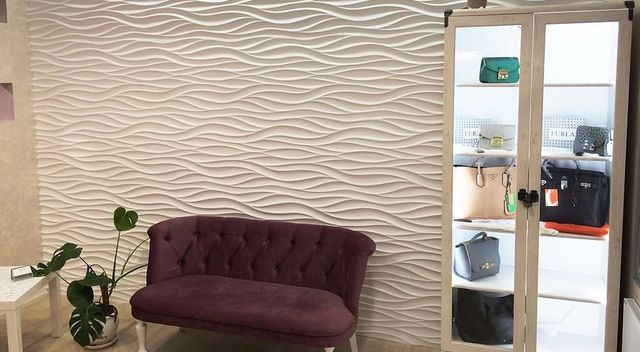 Plastic Molds Decorative Wall Panels Wave Price For 1pcs Size 500x500x30mm New Design 2017