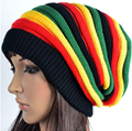 2016 mujeres de La Manera sombreros de las mujeres y los hombres de Jamaica Rasta sombrero de Invierno de punto Baggy beanie sombreros gorras