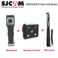 SJCAM Accessories Wrist Band + Handheld Selfie Stick Remote Monopod for M20 SJ6 SJ7 Star SJ8 series Action Camera