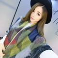 2016 Fashion style big Size 140*130cm Winter Warm Scarf Pashmina Women scarf thick Cashmere colorful geometic shawls and scarves