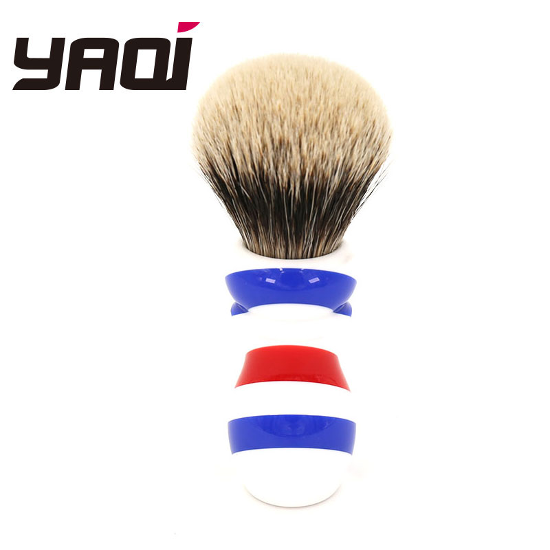 Yaqi New Barber Pole Style 24mm Two Band Badger Knot Shaving BrushYaqi New Barber Pole Style 24mm Two Band Badger Knot Shaving Brush