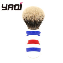 Yaqi New Barber Pole Style 24mm Two Band Badger Knot Shaving Brush 24mm yaqi two band badger hair brushes for razor